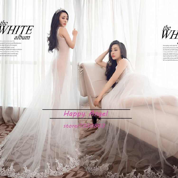 2015 New pregnant women Photography Props Chiffon Long Dress Pregnancy Pure white  Romantic clothing set Princess Free shipping