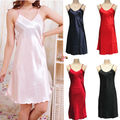 2016 New summer nightgown Fashion Sexy Satin Nightgown Strap Babydoll Chemise Bath Robe Sleepwear Dress chemise