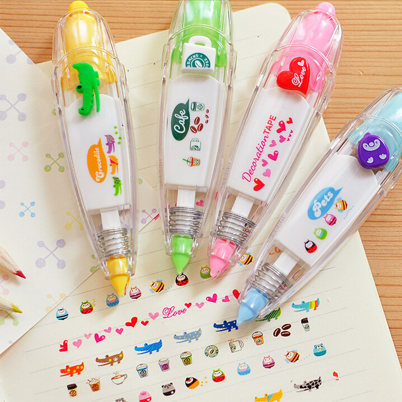 6pcs korean cute correction tape kawaii stationery for student school supplies DIY Scrapbooking Stickers<br><br>Aliexpress