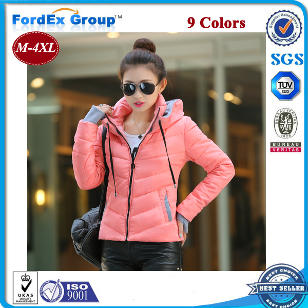 Snow wear wadded jacket female 2015 autumn winter women slim short cotton-padded outerwear coat - Fordex Industrial Group Limited store