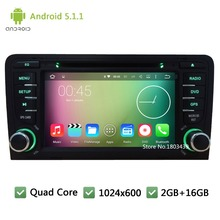 WIFI RDS FM Quad core Android 5.1.1 1024*600 7inch Car DVD PC Player Radio Audio Stereo Screen GPS For Audi A3 S3 RS3 2003-2013