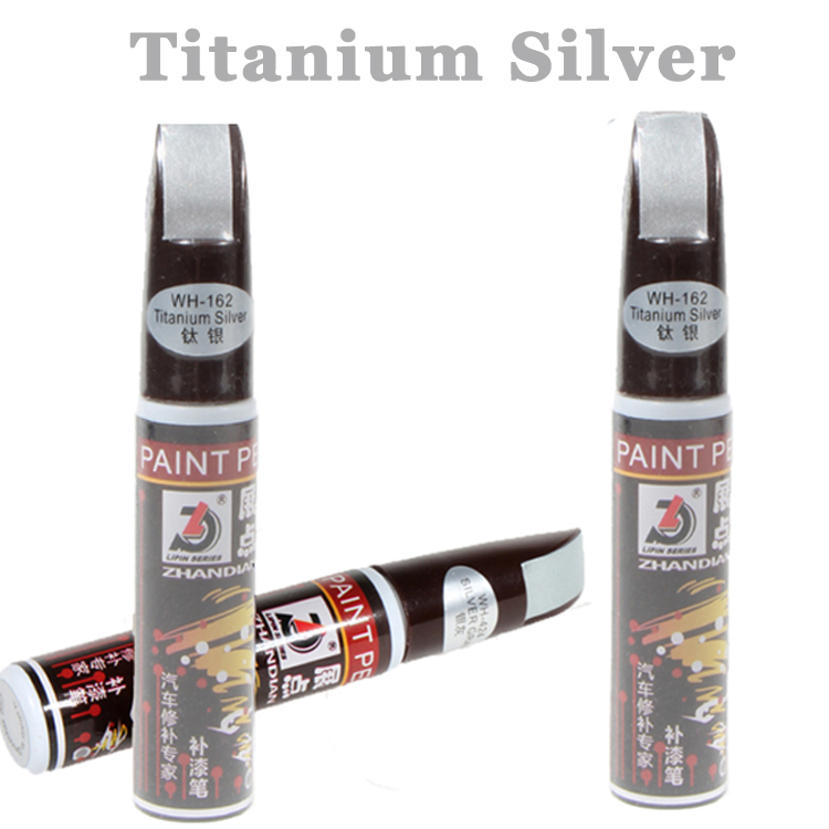 1pc Titanium Silver 12ml Car Care Fix It Pro Repair Paint Pen Universal Waterproof Car Scratch Clear Coat Applicator Remover Pen(China (Mainland))