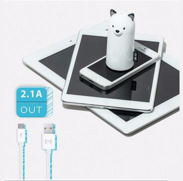 Mini Cartoon Dog Power Bank 5200mah Cute Dog Samoye External Battery for iPhone Samsung Almost All the Phone
