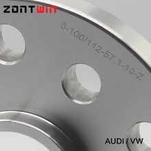 Wheel Spacers Of The PCD 5 x100/5x112 mm HUB 57.1mm 10mm Thickness Wheel Adapter 5x100/112-57.1 for AUDI VW(China (Mainland))