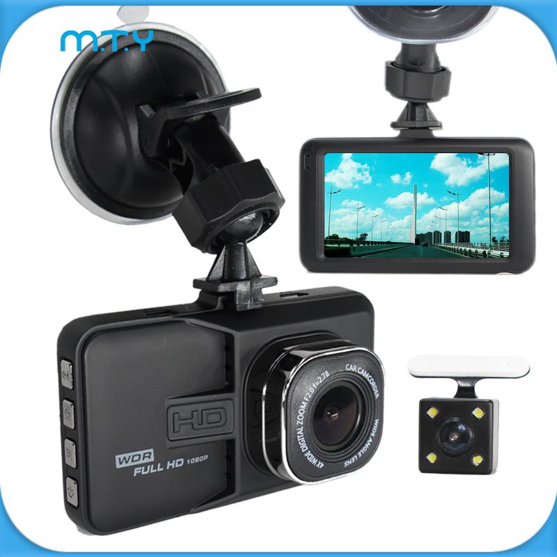 New 170 Degree Lens Dual Camera DVR Full HD 1080P Dual Lens Dash Cam Video Recorder 2 Camera Night Vision Car DVR Camcorder(China (Mainland))