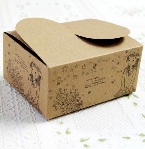 10 Kraft Paper 10.5*8.5*5cm Cookie/Cake/ Egg Tart Food Packaging Box - Ningbo Huahui Co.,ltd store