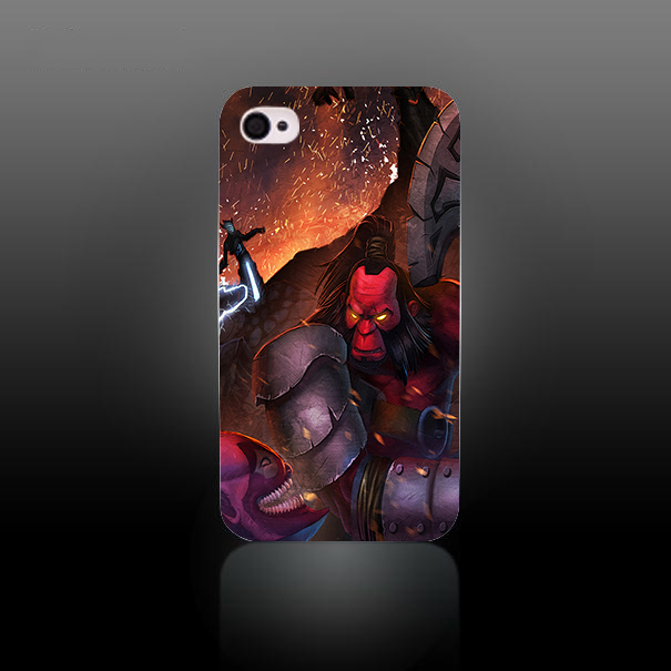 DotA 2 Axe Dazzle e Razor Style Hard White Case Cover for iPhone 4 4s 4g case cover cell phone case(China (Mainland))