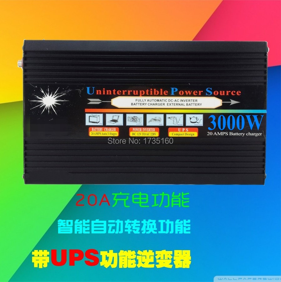 3000w for printers Peak 6KW6000W power inverter charger UPS 3000W Camp inverter car inverter Computers, DC to AC inverter(China (Mainland))