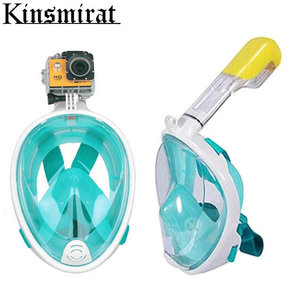 Full Face Snorkeling Mask Scuba Mergulho Diving Snorkel Mask Set For Gopro Go Pro Camera Summer Underwater Swimming Masque(China (Mainland))