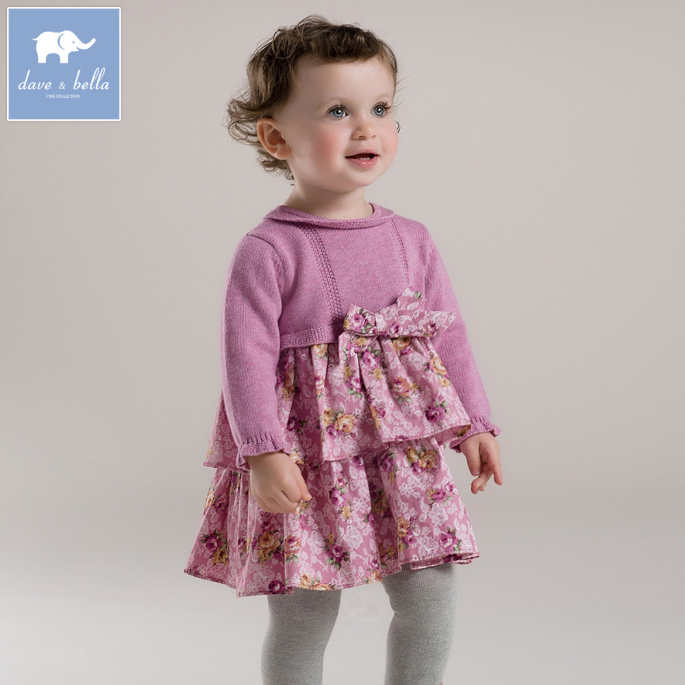 Check out Bonnie Baby and Blueberi Boulevard for baby dresses ranging from sleeveless to long sleeve. If your little one sees a sleeveless dress she loves, pick up a sweater in a neutral or matching color that she can easily slip on over her dress.