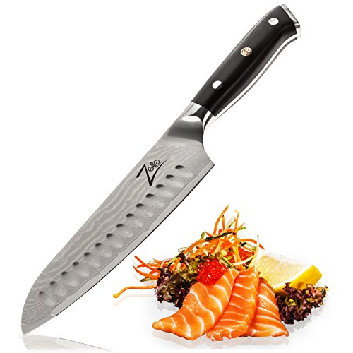 Santoku Knife 7 Inch by Zelite Infinity. Best Quality Japanese VG10 Super Steel 67 Layer High Carbon Stainless Steel(China (Mainland))