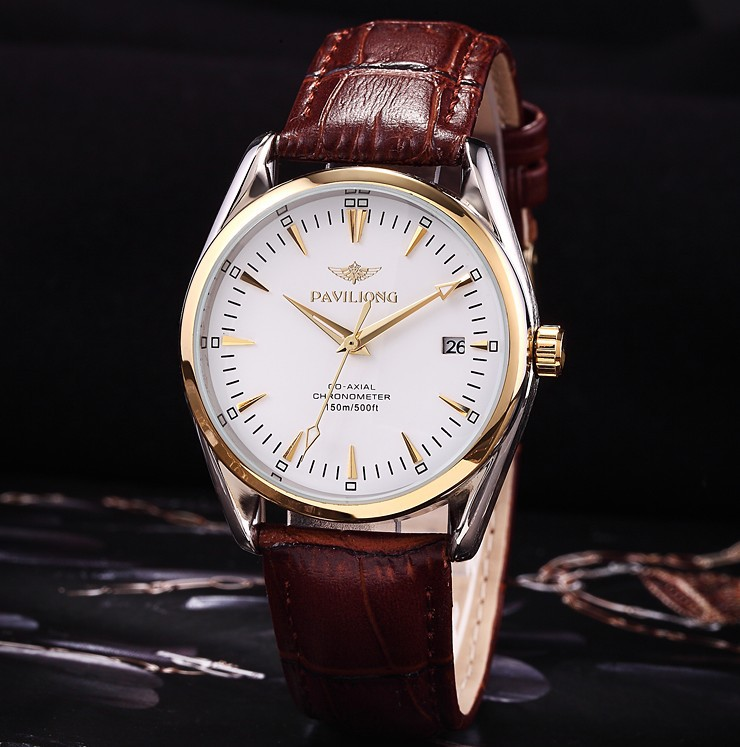 luxury leather watches best watchess 2017 men leather band automatic mechanical watches luxury brand self wind casual watch talking picture more detailed about 2016 new