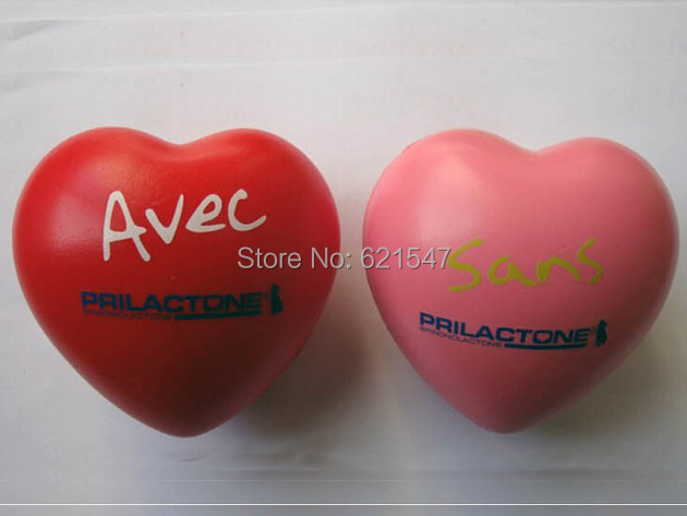 Cheap Heart Shape Custom Logo PU Toy Stress Ball for Gift Gadget free shipping free custom logo printing(China (Mainland))