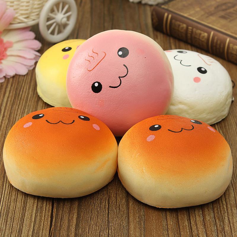 High Quality Jumbo 10cm smile marshmallow bun squishy phone charm Squishy Pendants Baby Toys Free Shipping(China (Mainland))