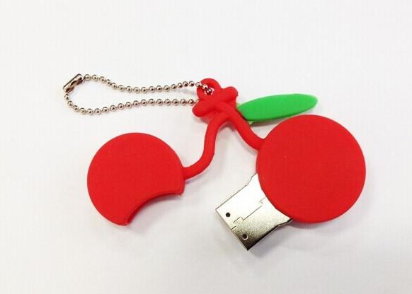 Fruit USB CREATIVO 8GB16GB32GB64gb memory card CARTOON cherry pen drive DISCOUNT u disk good gift mini leaf Usb flash drive S843(China (Mainland))