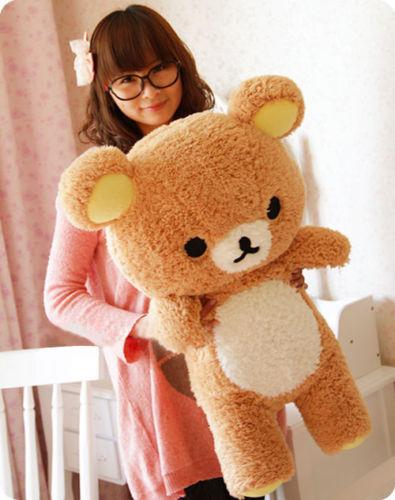 1pc large size Rilakkuma Relax Bear Cute 55cm Soft Pillow Plush Toy Doll(China (Mainland))