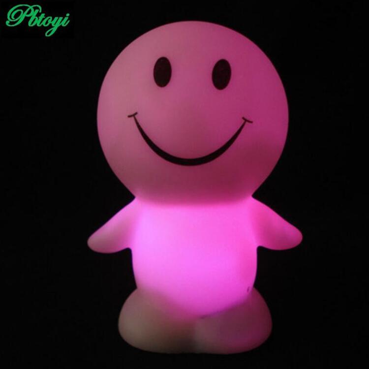 Sunny Smile Doll Lamp Colorful Led Night Light Vinyl Flash Toys Strange Hot Toys PA0009(China (Mainland))