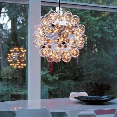 Modern Minimalist Living Room Chandelier  Taraxacum Small Ball Bubble Glass Chandelier Dining Room Den Lighting