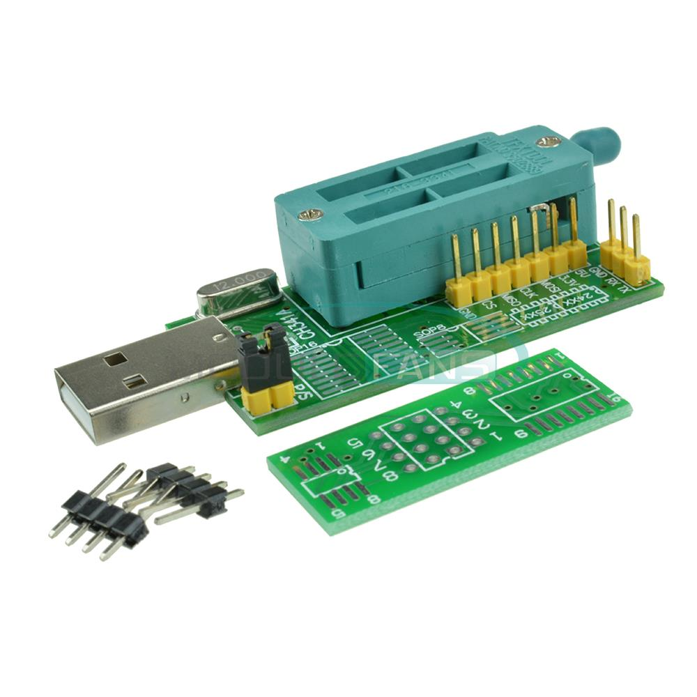 product Multifunction CH341A Router USB Programmer LCD Burner Bios Board 24 25 Series