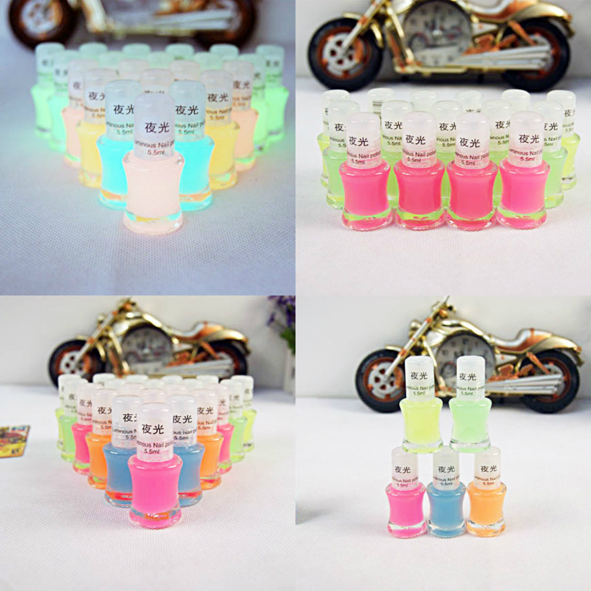 Sexy 5 Candy Colors Luminous Nail Gel Fluorescent Bright Nail Art Polish Enamel Neon Club Shiny Women Girls(China (Mainland))