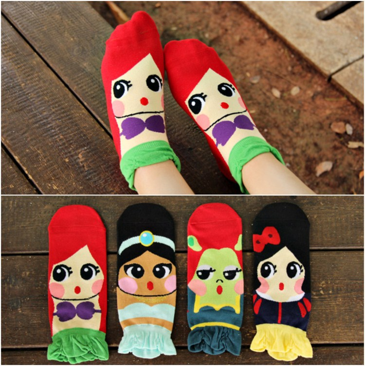 9 color 2014 New Fashion Women Carton Lace Cotton Sports Winter Autumn Bubble Cute High Quality Socks/Meias/Calcetines(China (Mainland))