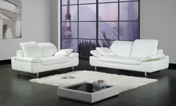 Minimalist Sofas : ... minimalist multifunctional single double trio combination leather sofa
