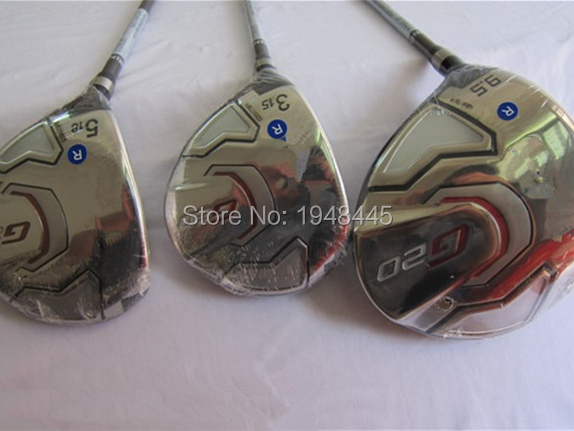 Left Hand G20 Woods G20 Golf Woods G20 Golf Clubs Driver + Fairways Regular/Stiff Flex Graphite Shaft With Head Cover & Wrench(China (Mainland))
