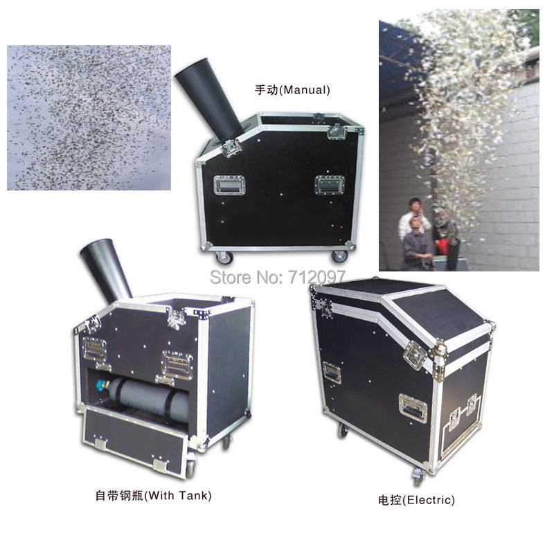 Free shipping DJ stage special effect wedding party color paper confetti shooting cannon machine(China (Mainland))