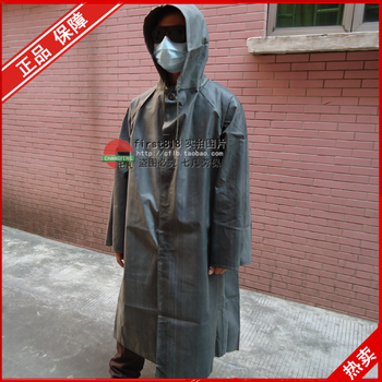 Rubber raincoat one piece vintage poncho thickening canvas Burberry old fashioned poncho