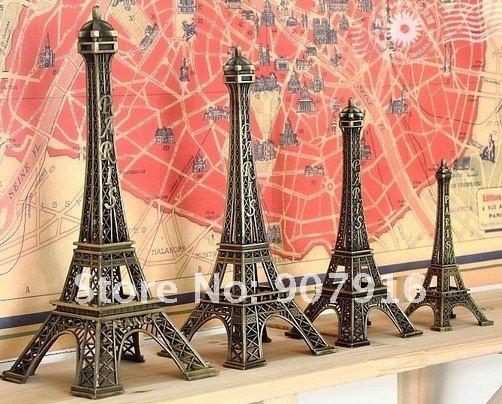 high 13cm metal craft arts 3D Eiffel Tower model French france souvenir paris home decoration gift desk office