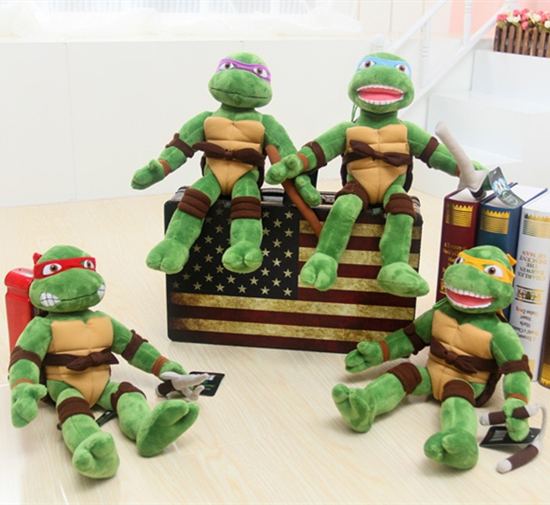Freeshpping Good Guality TMNT 4pcs/lot the Teenage Mutant Ninja Turtles Plush Toys Movies & TV Toys & Hobbies Boys Gifts(China (Mainland))