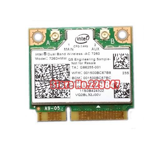 Dual band Wireless N 7260 HMWAN 7260 7260hmw an Wifi Bluetooth 4.0 kartu untuk Intel for asus sony acer(China (Mainland))