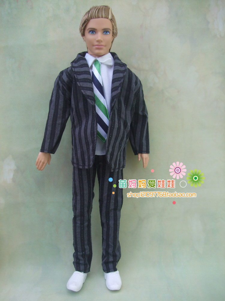 1sets = coat+shirt+ pants for barbie doll boy friend ken doll clothes out wear for 1/6 man doll(China (Mainland))