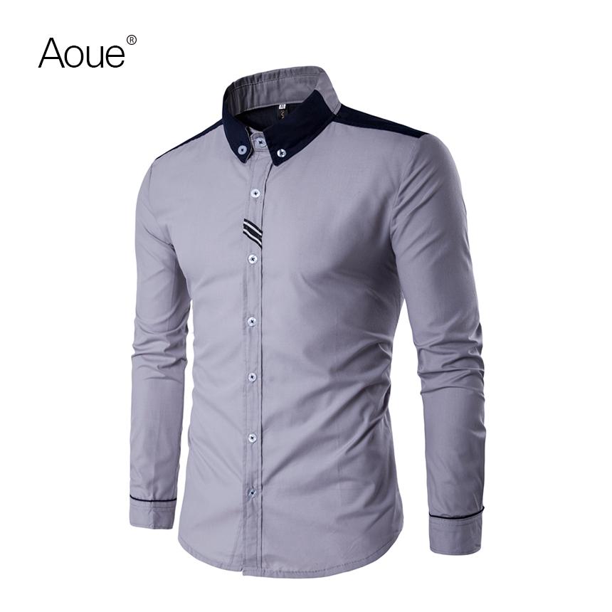 2017 Spring shirts men dress camisa Male blouse Social Shirt Brand Luxury chemise(China (Mainland))