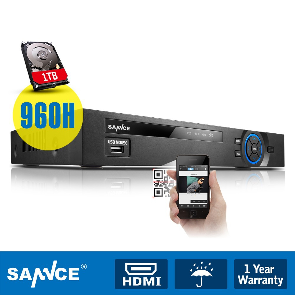 SANNCE 8CH Digital Video Recorder 960H HDMI DVR Security CCTV Surveillance with 1TB HDD(China (Mainland))