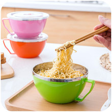 Use sealed stainless steel bowl bowl of soup with fresh fashion household sealing cover house with handle(China (Mainland))