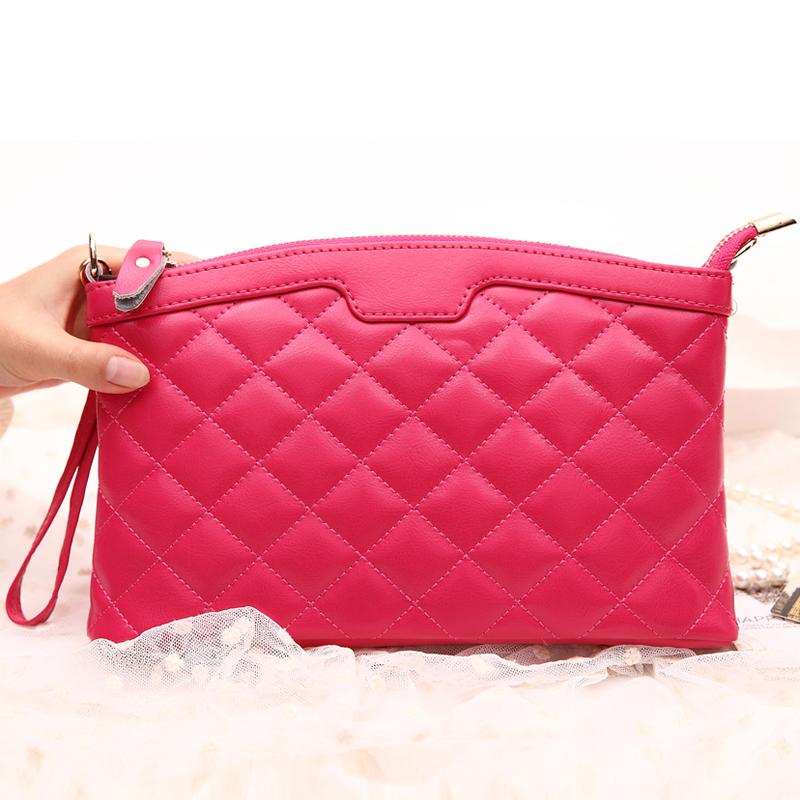 Bolsa Feminina Sale Rushed Single Women Leather Handbags 2015 Style Genuine Leather Bag Messenger Female Hand Clutch 6 Color 1.5(China (Mainland))