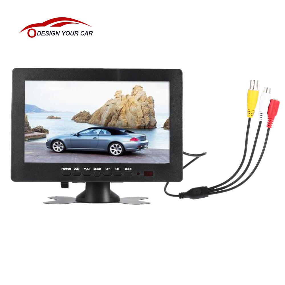 "7"" TFT LCD Screen Rearview Car Monitors TFT LCD Display for DVD GPS Reverse Backup Camera Vehicle Car Driving Accessories(China (Mainland))"