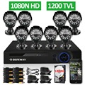 DEFEWAY 1200TVL 720P HD Outdoor Security Camera System 1TB Hard Drive 8 Channel 1080N HDMI CCTV
