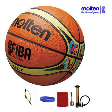 original molten basketball ball GL7 GL7X NEW Brand High Quality Genuine Molten leather Material Official Size7 Basketball(China (Mainland))