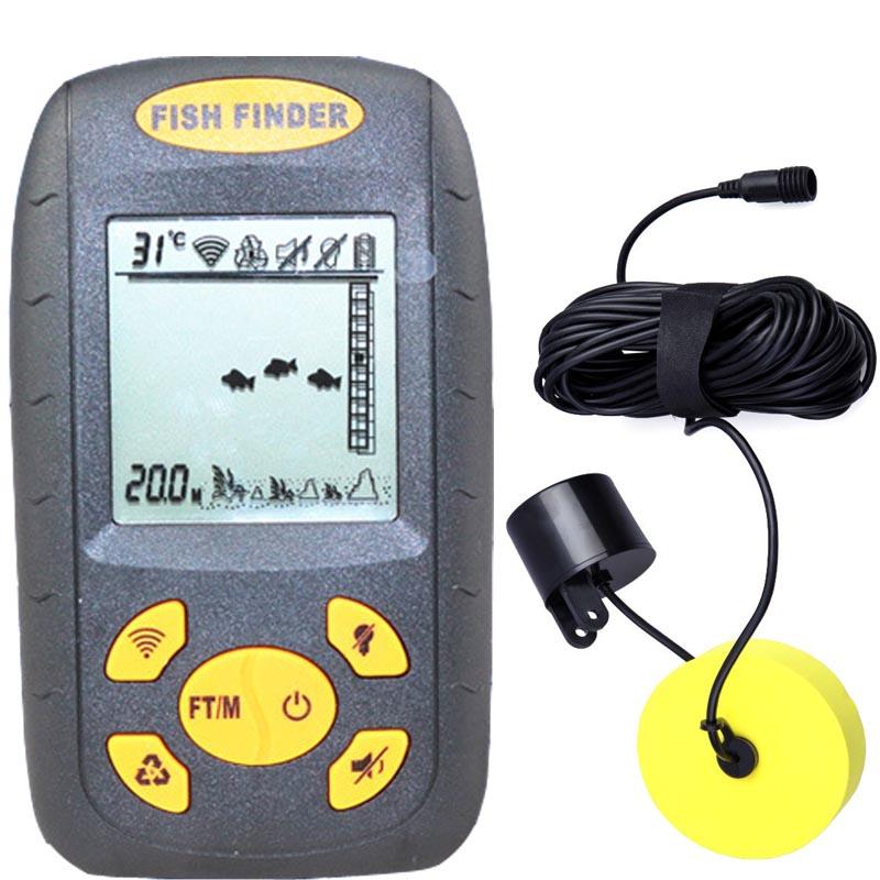 Fishfinder,fishing equipment,Top Portable Dot Matrix Sonar Fish Finder Detector Alarm For Sea Boat Locator Max Scan Depth 100m(China (Mainland))
