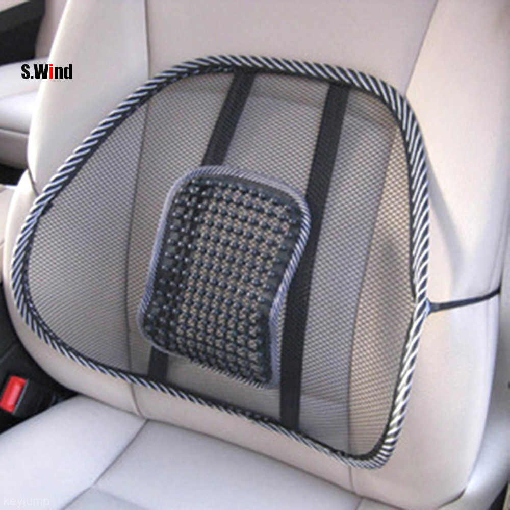 car seat comfort mesh lumbar back brace support office home car seat chair cushion cool car. Black Bedroom Furniture Sets. Home Design Ideas