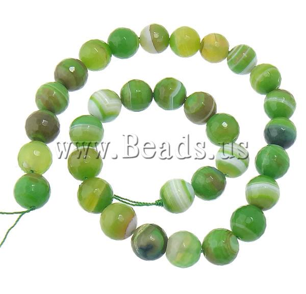 Free shipping!!!Natural Green Agate Beads,for Jewelry, Round, machine faceted &amp; stripe, 14mm, Hole:prox 2mm, Length:15 Inch<br><br>Aliexpress