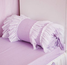 Romantic fairyfair purple square candy heart cushion cover for girls