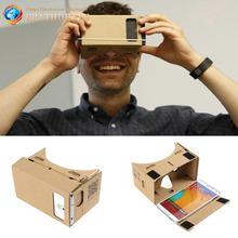 Verkauf hight qualität ultra clear diy google karton vr virtuelle Realität 5,5 handy 3d sichtbrille für 3D-Filme Spiele(China (Mainland))