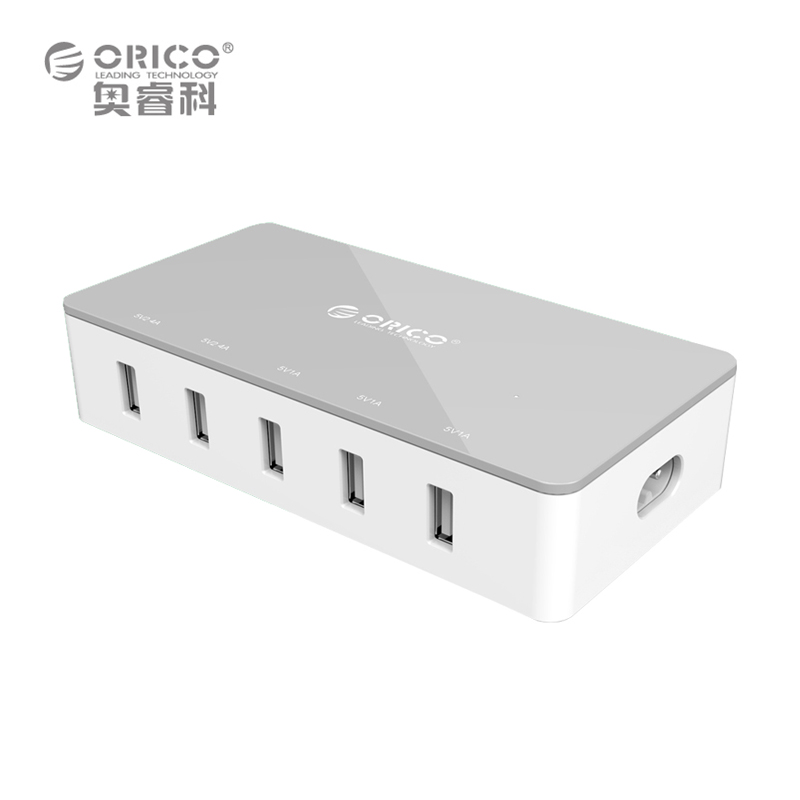 ORICO CSH-5U-US-GY 5 Port Micro USB Desktop Charger 31W Smart Super Charger - Gray / Green / Blue / Pink(China (Mainland))
