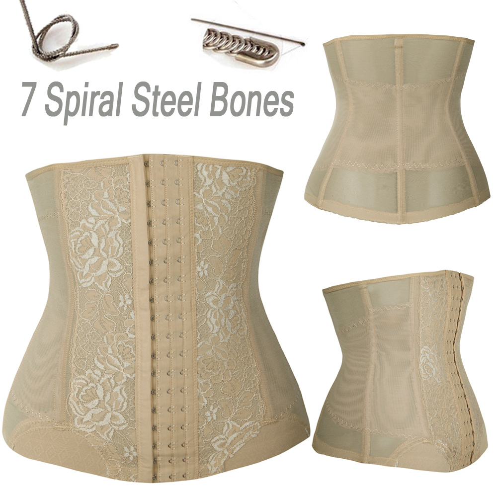 Slimming Body Waist Shaper Tummy Trimmer Black Steel Bone Waist Trainer Cincher Women Girdles Lose Weight