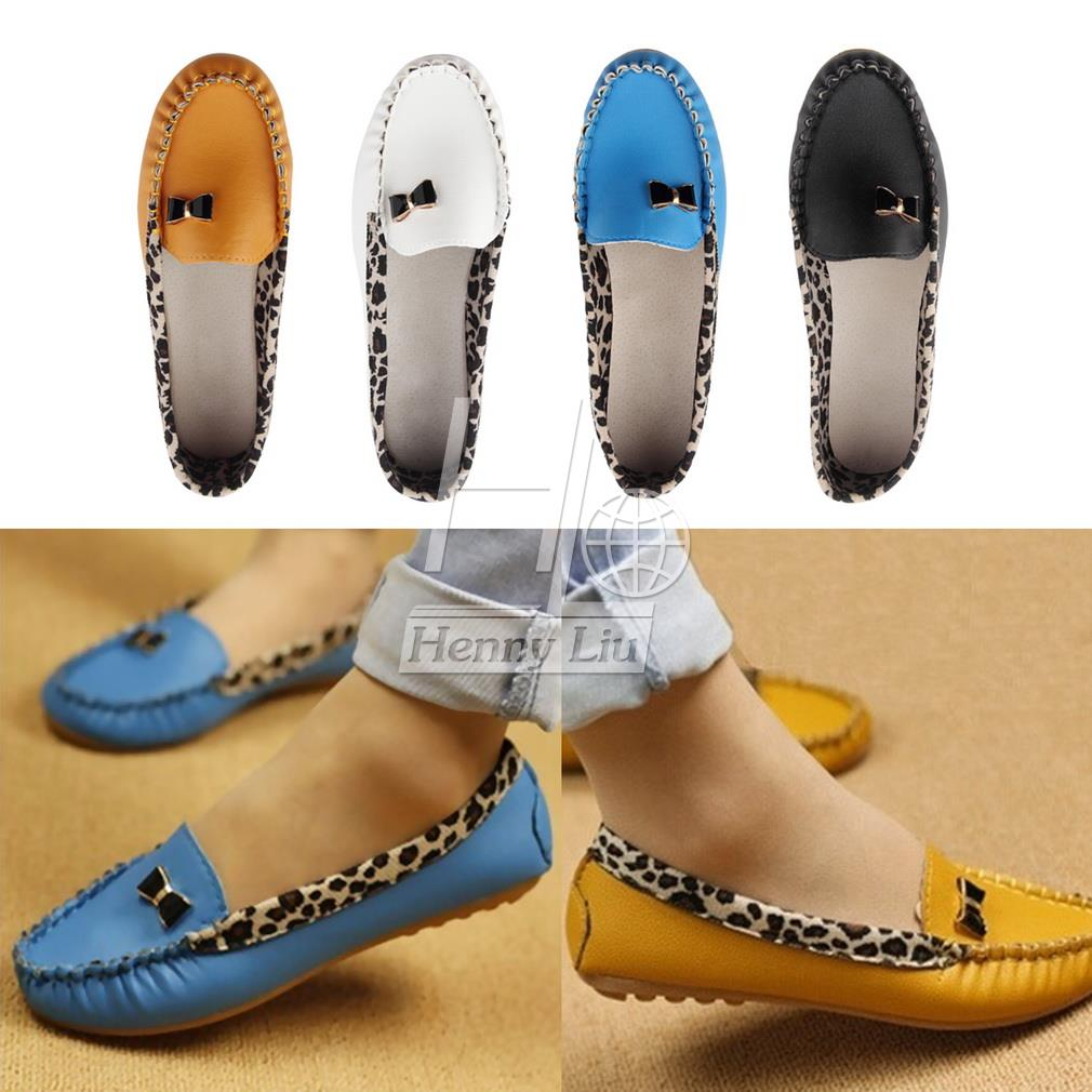Гаджет  2015 casual flat shoes flat heel female Moccasins PU plus size women shoes mother shoes Loafer Shoes None Обувь