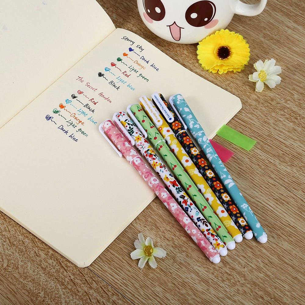 2016 Hot Selling Unique Design 15.5 cm 6pcs Colorful Watercolor Gel-ink Pen Inexpensive And Practical Items For Your Daily Life(China (Mainland))