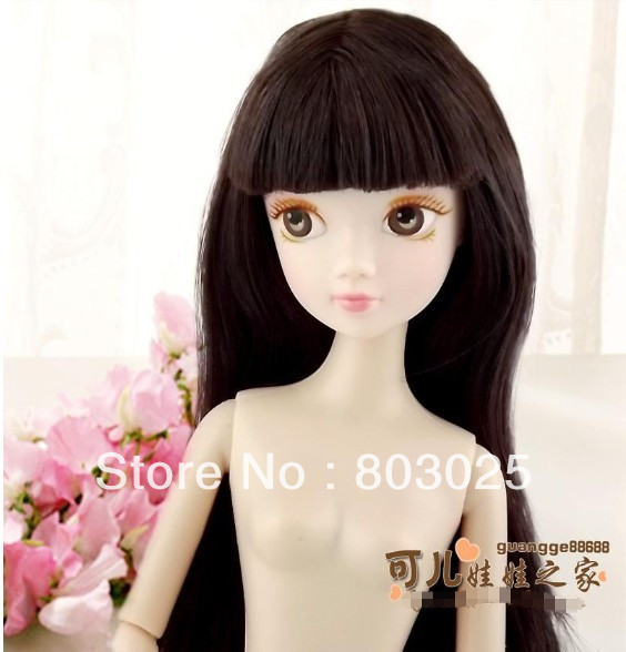 Здесь можно купить  Free Shipping 27.5 cm Naked Joint Doll With Straight Wig Full Bangs, Chinese Kurhn Doll 6880 For Kids, Best Promotional Gifts  Игрушки и Хобби